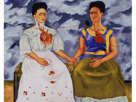 Dwie Fridy (Frida Kahlo) malowanie po numerach