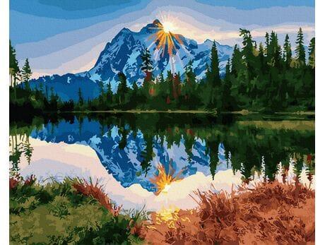 Poranek w górach malowanie po numerach