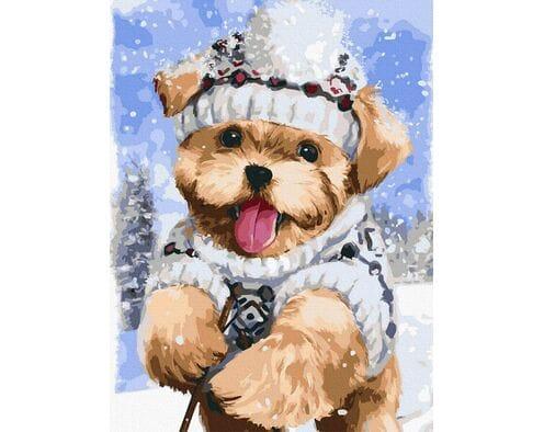 Terrier w śniegu