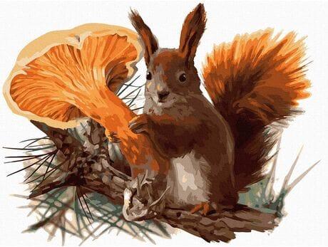 Zapobiegliwa wiewiórka malowanie po numerach