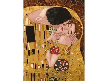 Pocałunek (Gustav Klimt) malowanie po numerach