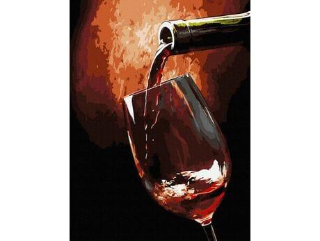 Lampka wina malowanie po numerach