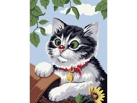Niewinny kotek malowanie po numerach