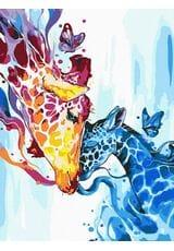 Kolorowy żyrafy