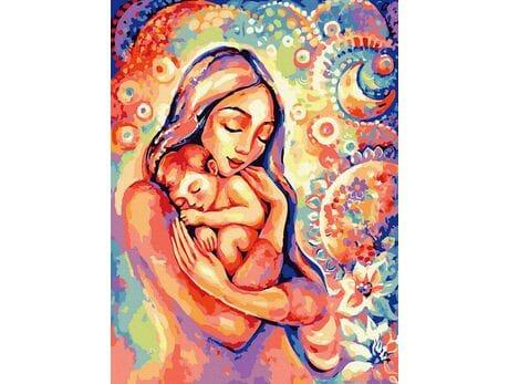Matczyna miłość malowanie po numerach
