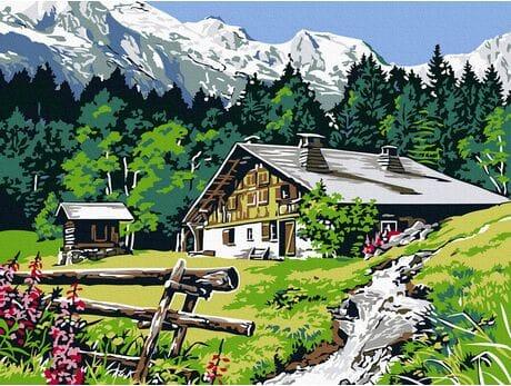 Wypoczynek w Tatrach malowanie po numerach