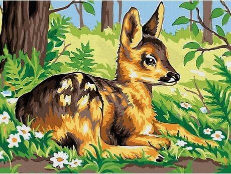 Jelonek Bambi malowanie po numerach