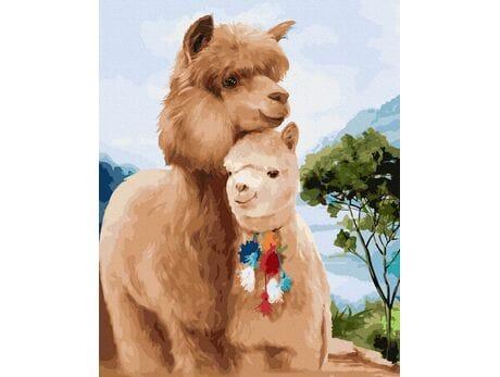 Alpaki malowanie po numerach