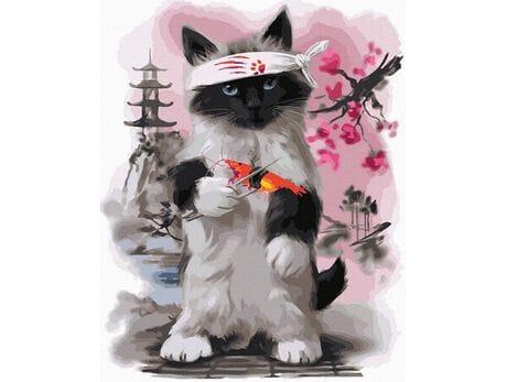 Japoński kot malowanie po numerach