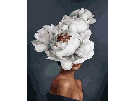 Piękno kwitnącego kwiatu malowanie po numerach