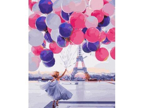 Uniesiona w paryskim niebie malowanie po numerach