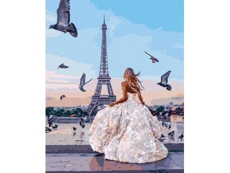 Paryskie gołębie malowanie po numerach