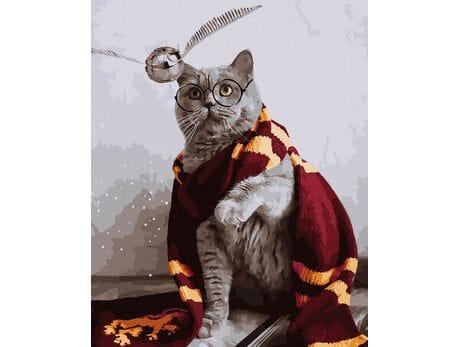 Kot Gryfindoru malowanie po numerach