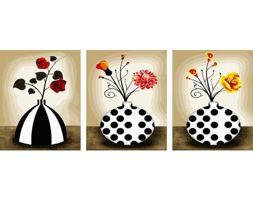 Kwiatki w wazonach