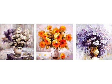 Zestaw kwiatów malowanie po numerach