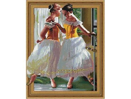 Piękne młode baletnice diamentowa mozaika