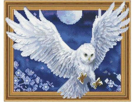 Sowa - symbol nocy diamentowa mozaika
