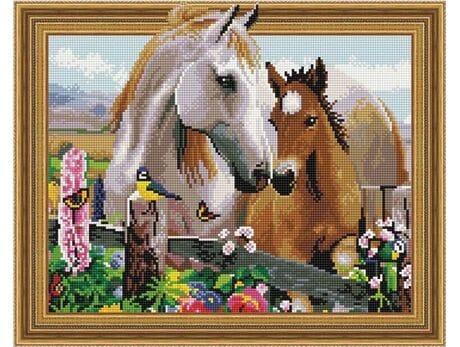 Młody z mamą diamentowa mozaika