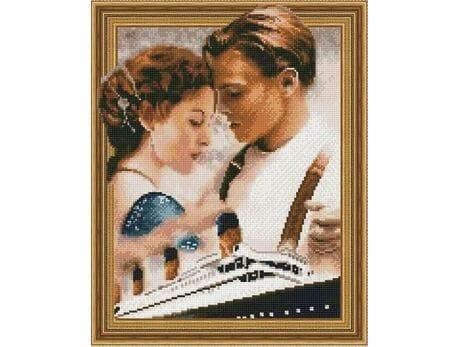 Titanic- statek miłosny diamentowa mozaika
